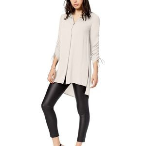 ✨NWT✨ Bar III button down ruched sleeve tunic